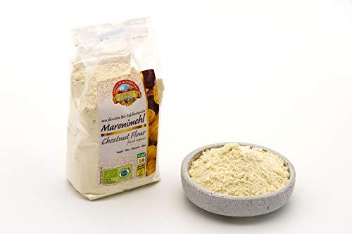 Bio Maronimehl aus Edelesskastanien– 6 x 300g – Glutenfrei – Süß und kräftig im Geschmack – Vegan – Rohkost