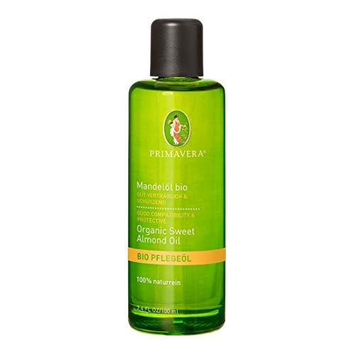 PRIMAVERA Pflegeöl Mandelöl bio 100 ml - Naturkosmetik, Pflanzenöl, Hautöl - pflegend, feuchtigkeitsspendend - vegan