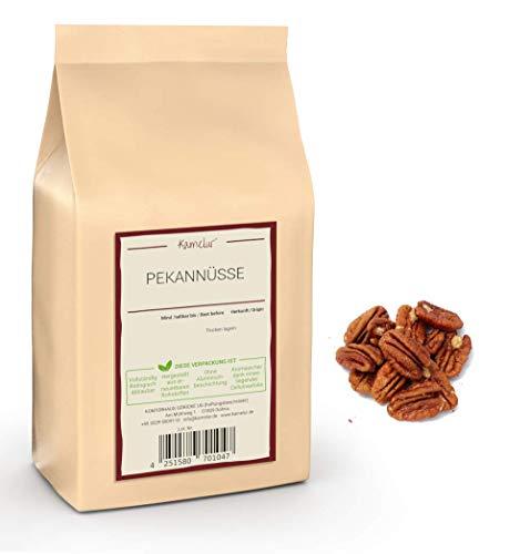 Kamelur 1kg Pekannüsse halbe Kerne - hochwertige Pecannüsse, unbehandelt und ohne Zusätze