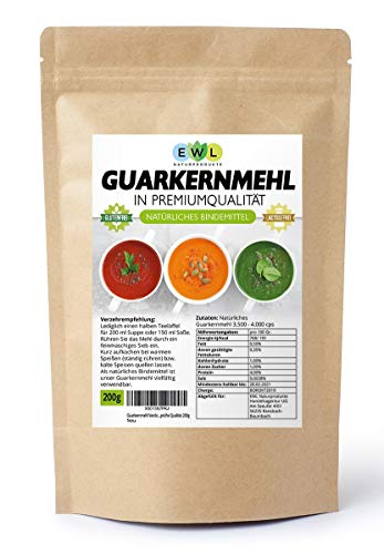 Guarkernmehl Verdickungsmittel Bindemittel E 412 3.500 cps Carb Guar Gum   in Deutschland kontrolliert und abgefüllt   200g