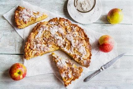 versunkener apfelkuchen mandelmehl rezept