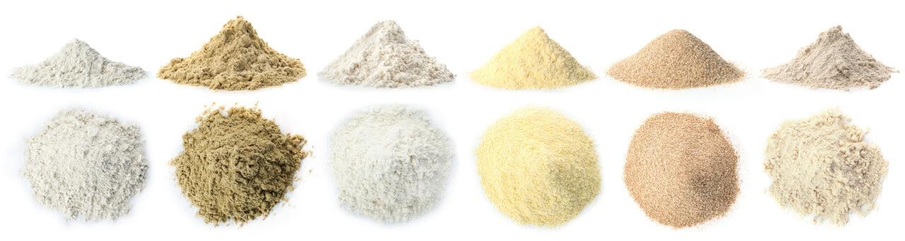 Alternative Mehlsorten glutenfrei und low-carb