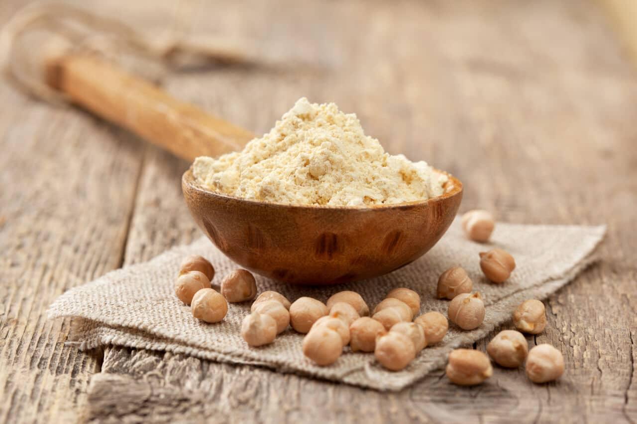Kichererbsenmehl gesunde Weizenmehlalternative